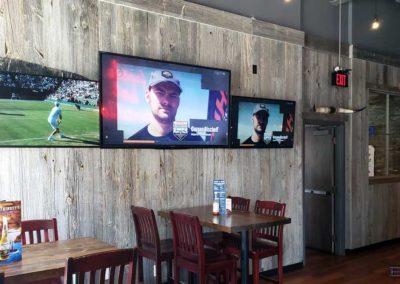 TV Wall Mounting. Lone Star Texas Grill, Restaurant area. London, Ontario -HTAV.