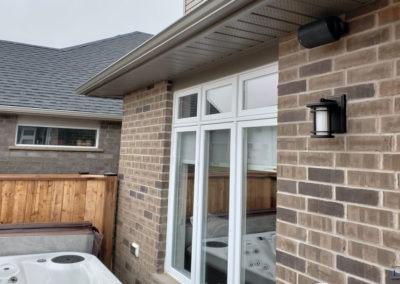 Outdoor Speaker Installation, Concealed Wiring. Residential Backyard. London, Ontario -HTAV.