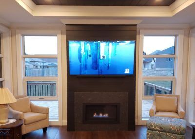Fireplace TV Mounting, Soundbar Installation, Concealed Wiring. Residential Living Room. London, Ontario -HTAV.