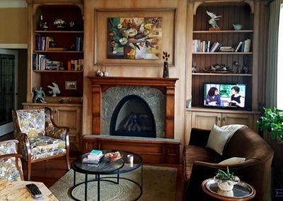 Furniture TV Mounting, Concealed Wiring. Residential Living Room. London, Ontario -HTAV.