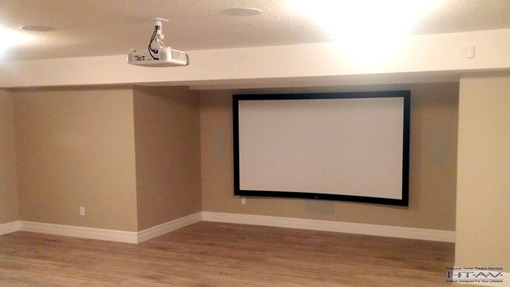 Home Theatre Design and Installation, Surround Sound System Setup, Concealed Wiring. London, Ontario.