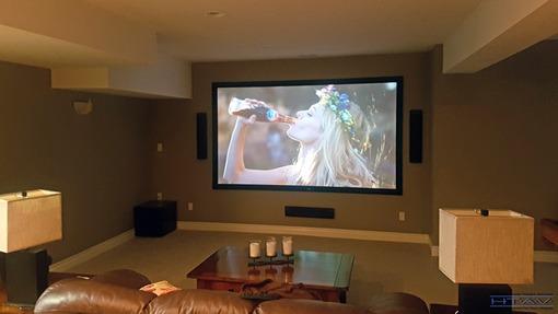 Home Theatre Installation, Surround Sound System Setup, Concealed Wiring. London, Ontario.