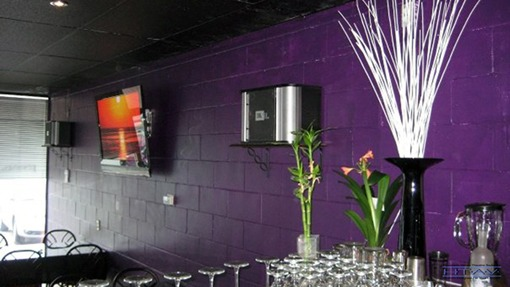 Karaoke System Setup, Wall Mounted TV Installation, Concealed Wiring. Forever Karaoke Bar. London, Ontario.