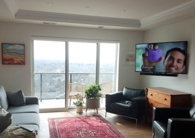 TV Wall Mounting, Concealed Wiring. Residential Living Room. London, Ontario -HTAV.